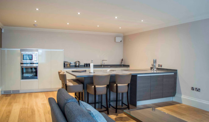 Blythswood Apartments Glasgow Kitchen Area