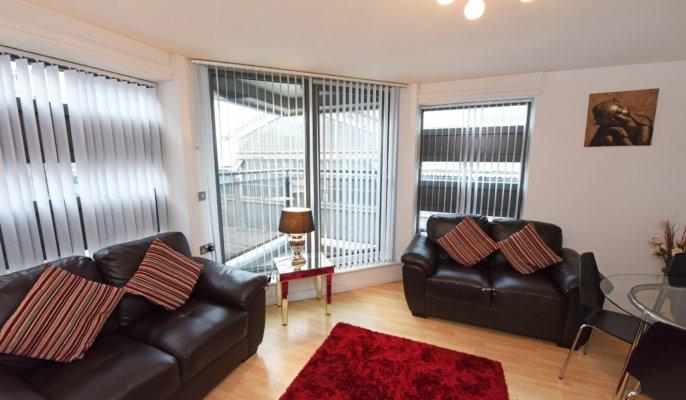 City Centre Apartment Living Room