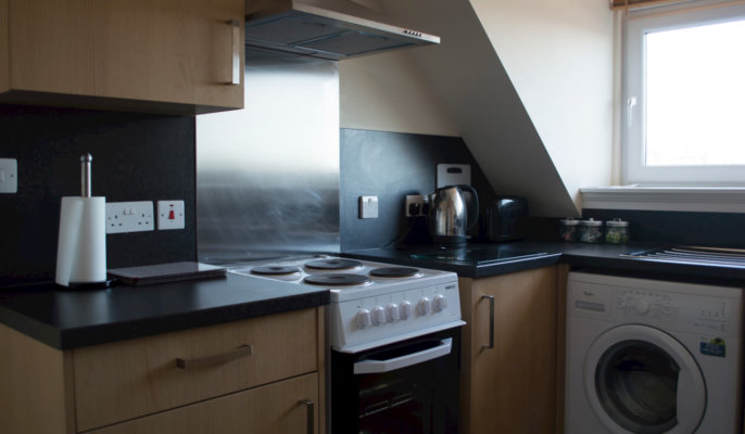 Great Northern Road Serviced Apartments Kitchen