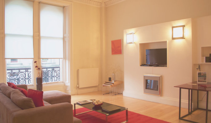 West End Serviced Apartments Living Room
