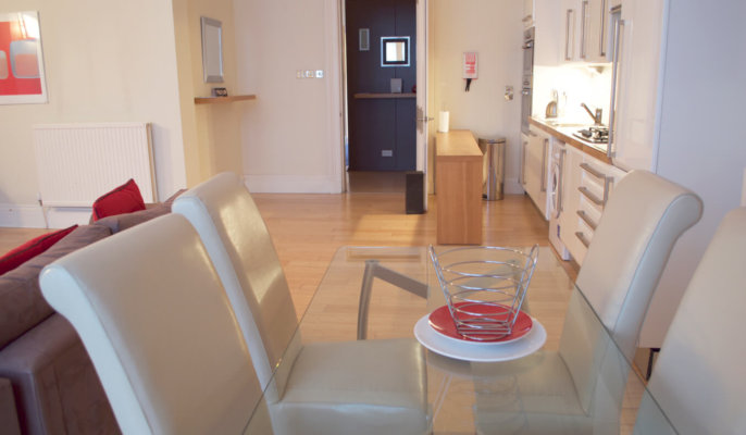 West End Serviced Apartments Dining Area