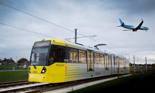 Manchester Airport tramline Metrolink