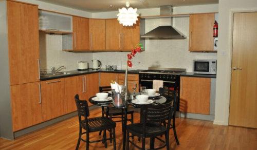 Serviced Apartments Edinburgh Tollcross Kitchen Area