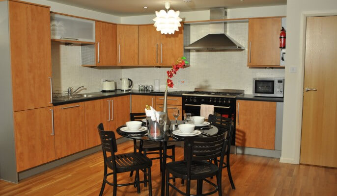 Serviced Apartments Edinburgh Tollcross Kitchen Area ...