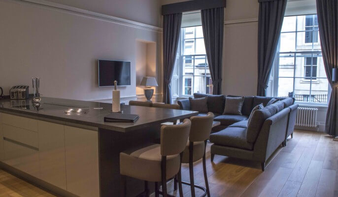 Serviced Apartments Glasgow Blythswood Living Area