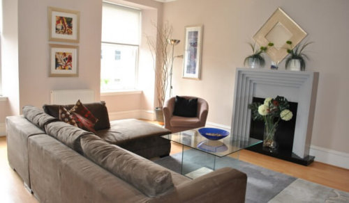 Serviced Apartments Glasgow Lynedoch Living Area