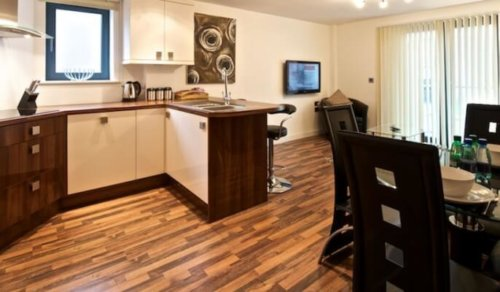 Serviced Apartments Manchester Bloom Kitchen Area