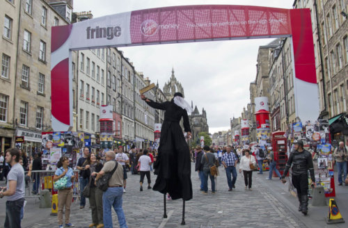 The Royal Mile during the Edinburgh Festival